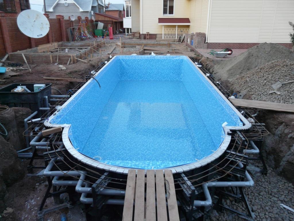 Как построить открытый бассейн